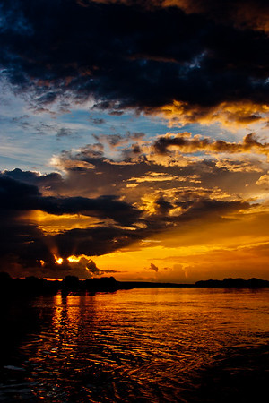 Sunset on the Zambezi River 14: Journey into Africa