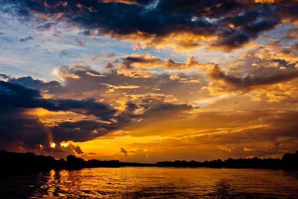 Sunset on the Zambezi River 15: Journey into Africa