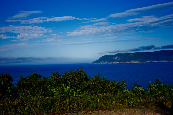 Looking Towards the Ocean in Cape Breton in Nova Scotia