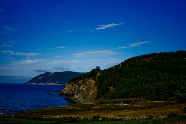 Sharp Cliffs and Ocean in Cape Breton in Nova Scotia