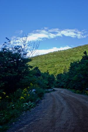 Road in Shadow in Cape Breton Nova Scotia