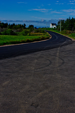 Curve in the Road in Cape Breton in Nova Scotia
