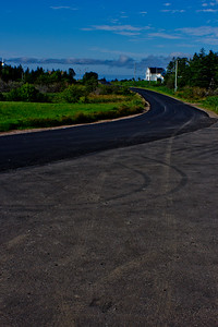 Curve in the Road in Cape Breton in Nova Scotia