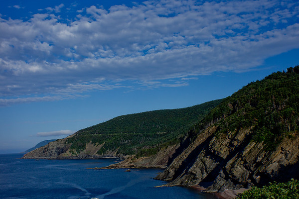 Mountains Reaching into the Ocean in Cape Breton in Nova Scotia
