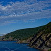 Mountains Reaching into the Ocean in Cape Breton in Nova Scotia