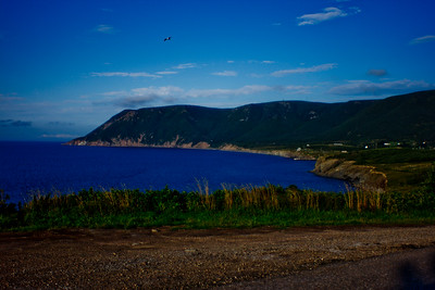 Grass and Coast in Cape Breton in Nova Scotia