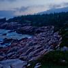Rocks and Ocean at Night in Cape Breton Nova Scotia