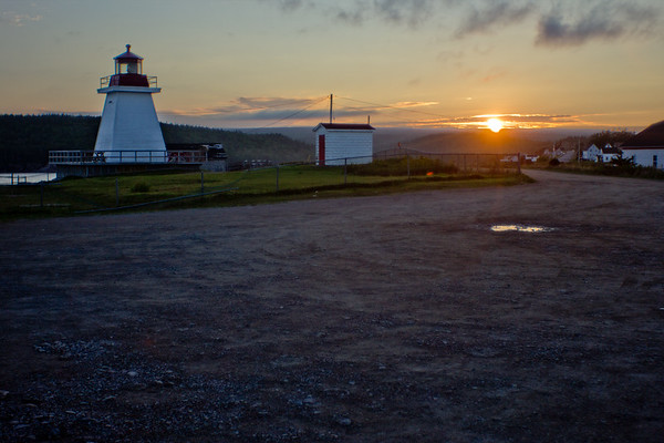Sunset and Lighthouse in Cape Breton Nova Scotia