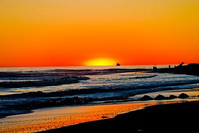 Orange Sky at Sundown in Northern California