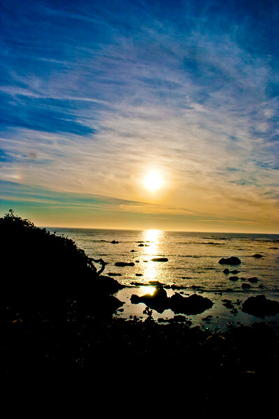 Sunset on the Ocean in Northern California
