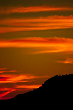 Yellow and Red Sky In Mexico