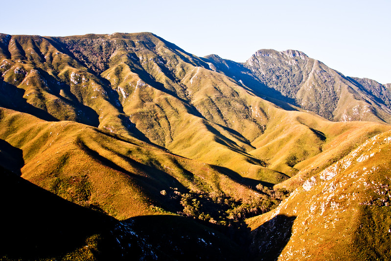 Shadow and Grass Mountains in South Africa