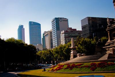 Looking Beyond Fuente de Cibeles in Mexico City