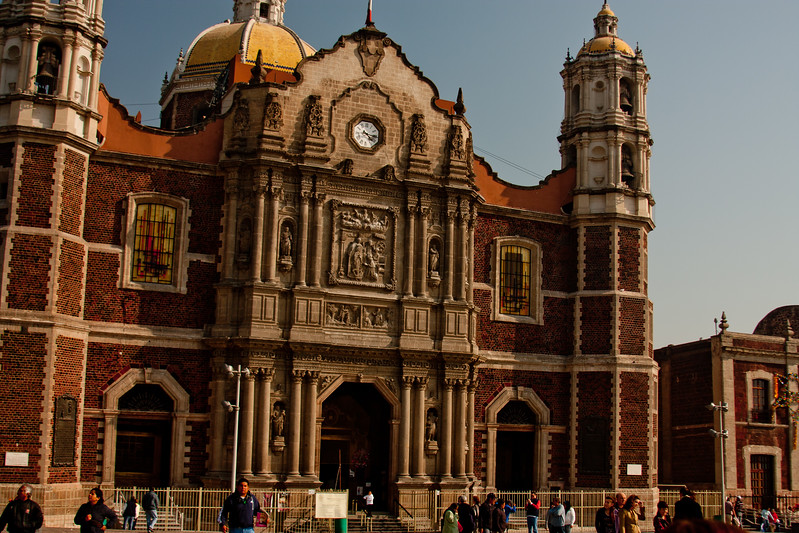 Basilica of Our Lady of Guadalupe at an Angle in Mexico City