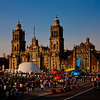 Mexico City Metropolitan Cathedral at Sunset