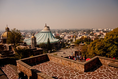 Looking onto the Basilica of Our Lady of Guadalupe in Mexico City