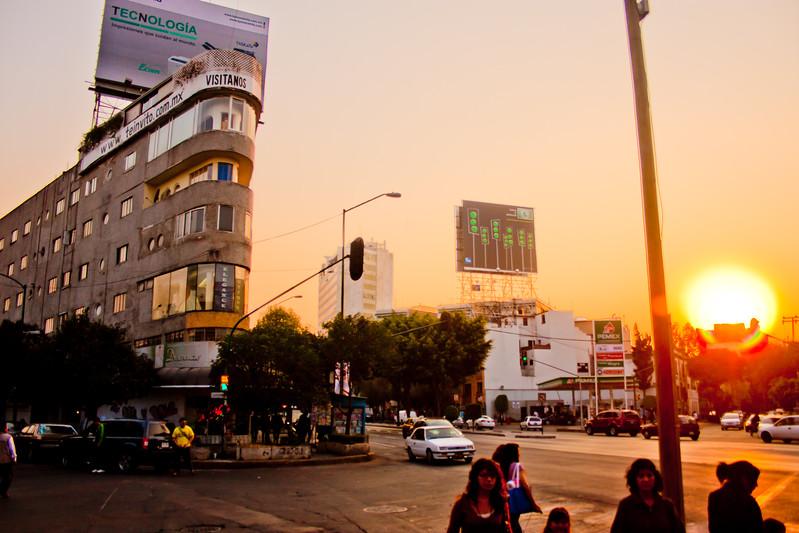 Sun Down in Mexico City