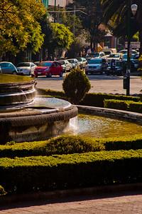 Side of the Fuente de Cibeles Fountainin Mexico City