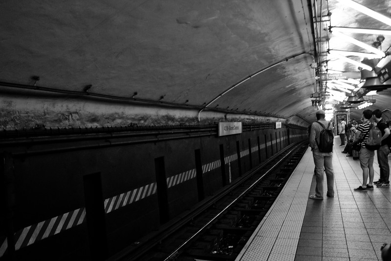 People and Tracks in New York City