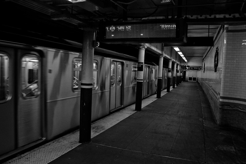 Waiting for the Subway in New York City