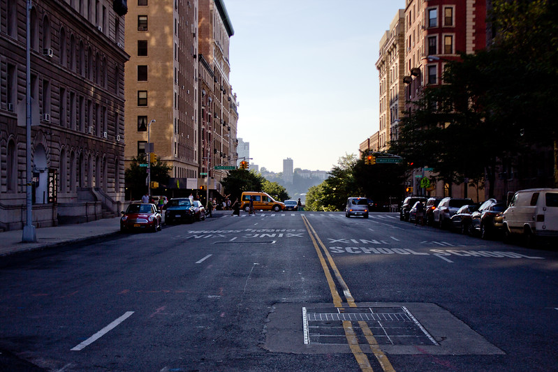 Street in Shadow in New York City