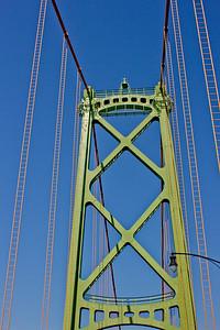 Traveling Through the Bridge in Halifax Nova Scotia
