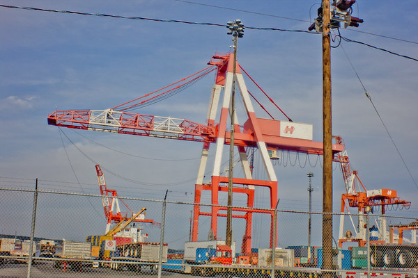Cargo Cranes at the Ship Yard in Halifax Nova Scotia