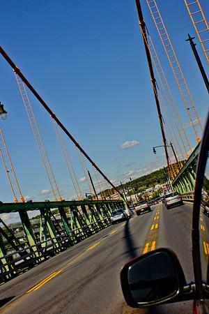 Traffic on the Bridge in Halifax Nova Scotia