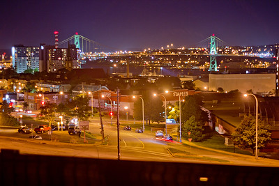 Bridge and Street in Halifax Nova Scotia