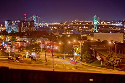 Bridge and Street in Halifax Nova Scotia