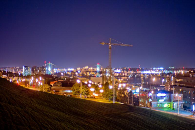 City Night Lights in Halifax Nova Scotia