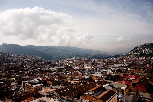 Clouds Coming into the City in Quito Ecuador