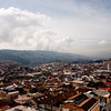 Clouds Coming into the City in Quito Ecuador