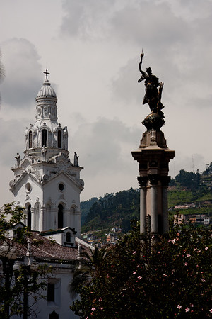 Liberty Statue Plaza de la Independencia in Quito Ecuador
