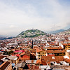 Range of Mountains and City in Quito Ecuador