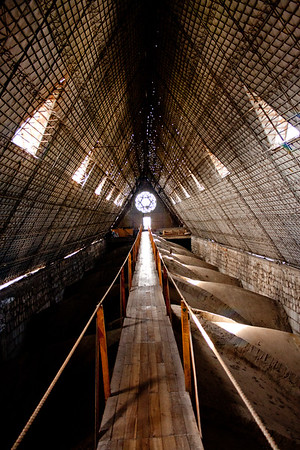 Inside the Rafters in Basílica del Voto Nacional  in Quito Equador
