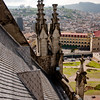 On the Roof of Basílica del Voto Nacional  in Quito Ecuador