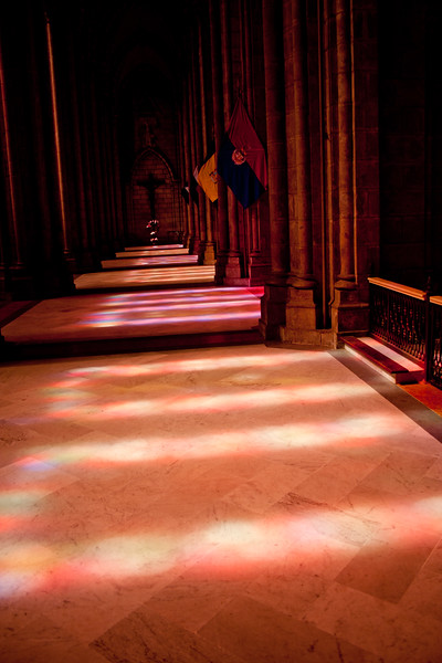 Shadow and Color Light in Basílica del Voto Nacional  in Quito Ecuador