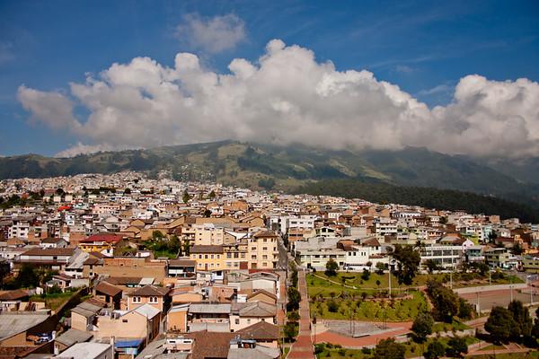 Mountains and City in Quito Ecuador