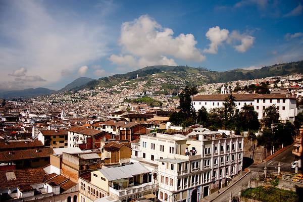 Homes on the Mountain in Quito Ecuador