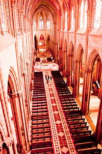 View inside Basílica del Voto Nacional  in Quito Ecuador