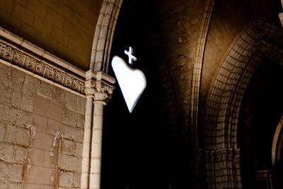 Heart Close Up in Basílica del Voto Nacional  in Quito Ecuador