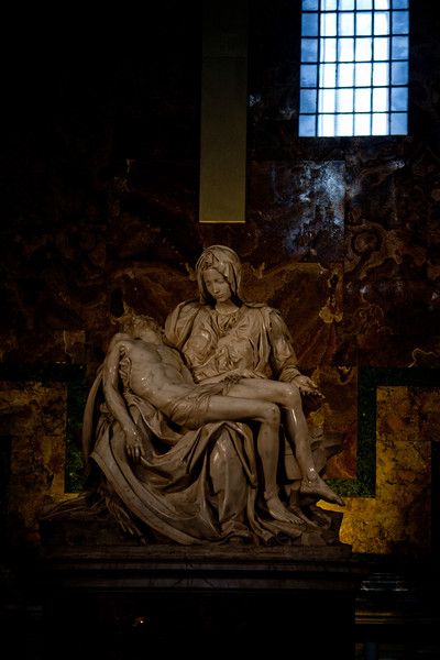 Pietà in the Vatican in Italy