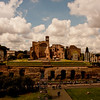 Roman Forum in the Distance in Rome Italy