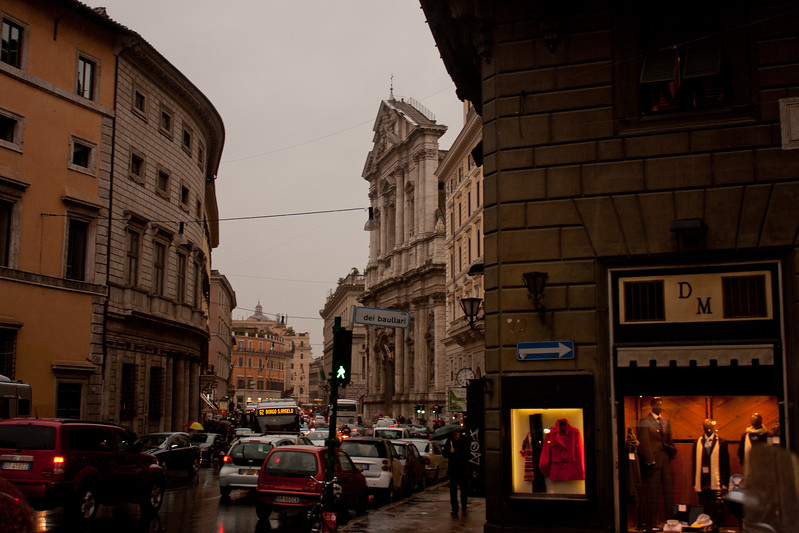 Cars and Traffic in Rome Italy