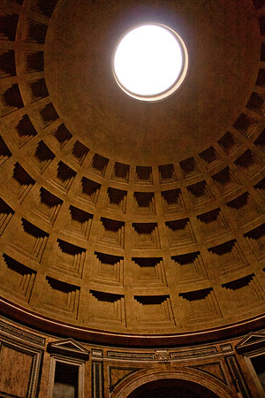 Dome in the Pantheon in Rome Italy