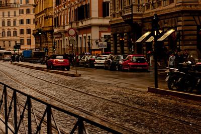 Mini Cooper Leaving in Rome Italy
