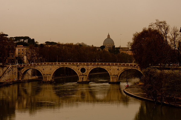 Vatican in the Distance in Rome Italy