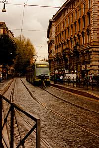 Traveling Metro in Rome Italy
