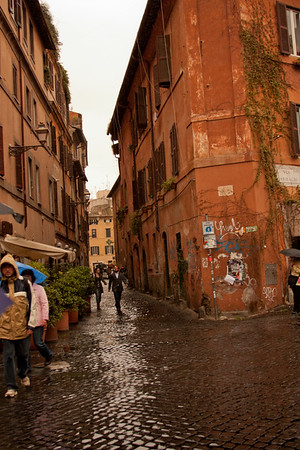 Between the Buildings in Rome Italy